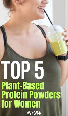 Protein powders are actually a fantastic way to get in some extra protein. I've compiled a list of the top 5 plant-based protein powders for women because it's usually the non-meat eaters that need this supplement most in their lives. Weight Loss Meal Plan, Diet Plans To Lose Weight, Fast Weight Loss, How To Lose Weight Fast, Losing Weight, Protein Powder For Women, Best Protein Powder, Healthy Eating Tips, How To Stay Healthy