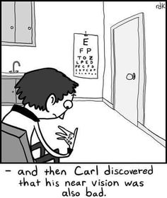 Don't be like Carl, schedule your annual eye exam today! #eyeexam