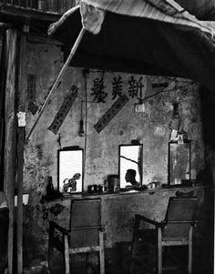 Sidewalk Barber Shop 1960 ~ Fan Ho Photography