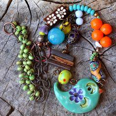 Ceramic Necklace Bird Jewelry Statement Necklace by ThreeTrees, $65.00