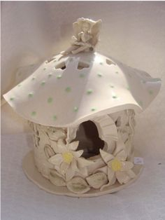 handbuilt pottery birdhouses | Hand Built Pottery Bird Houses