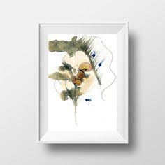 """Digitaldruck - Artprint """"Frau hinter Rosen"""" - ein Designerstück von designkind_de bei DaWanda"""