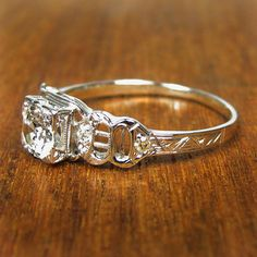Cordelia Vintage Diamond Engagement Ring circa 1950.
