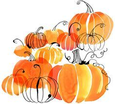 Margaret Berg : fall / halloween Fall Autumn Watercolor, Beautiful Paintings, Halloween Good, Watercolors Pumpkins Fal, Halloween Pumpkins, Drawing Photoshop, Fall Halloween, Halloween Inspiration, Fall Drawings