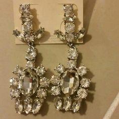 Pretty rhinestone elegant silver earring Pretty rhinestone elegant silver earring Jewelry Earrings