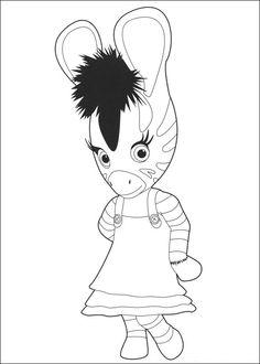 Zou-Zou Fargelegging for barn. Tegninger for utskrift og fargelegging nº 14