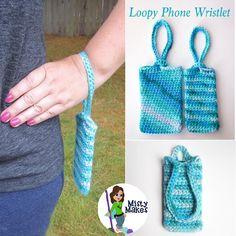 Loopy Phone Wristlet/ beginner / FREE DOWNLOADABLE CROCHET pattern