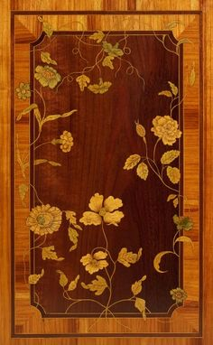 A Dutch Transition Commode with Marquetry, ca. 1775 - A Dutch commode in a… Barbie Furniture, Dollhouse Furniture, Painted Floors, Wood Paneling, Wall Pannels, Art Nouveau Furniture, Table Top Design, Parquetry, Intarsia Woodworking