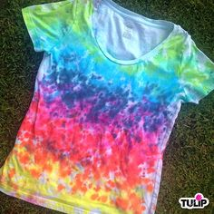 iLoveToCreate Blog: Rainbow-Drip Tie Dye Shirt