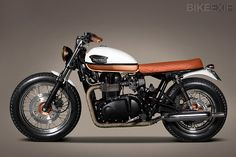 Hinkcley Triumph Bonneville T100 custom with white  copper tank