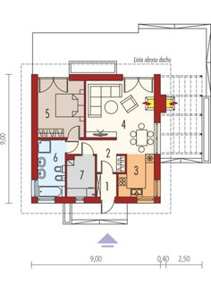 Tosia ENERGO - projekt domu - Archipelag Compact House, House Plans, Floor Plans, House Design, How To Plan, Building Designs, Arquitetura, Country Houses, Home