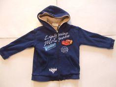 Disney CARS Boys HOODIE Zipper Sweatshirt Size-4 Blue Warm Very Good! #Disney #Everyday