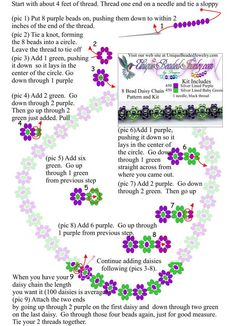 Free Daisy Chain 8 Bead Necklace Pattern
