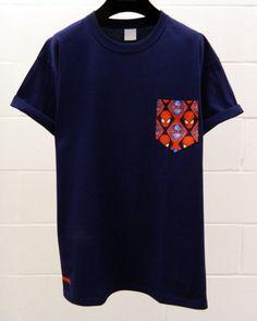 Men's Spiderman Pattern Navy Blue Pocket T-Shirt by HeartLabelTees