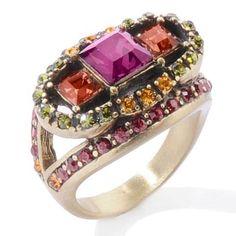 "Vintage Passion"""" 3 Stone Princess Pave Ring"