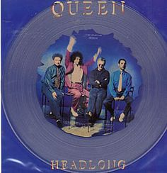 "For Sale - Queen Headlong UK  12"" vinyl picture disc 12inch picture disc record - See this and 250,000 other rare & vintage vinyl records, singles, LPs & CDs at http://eil.com"