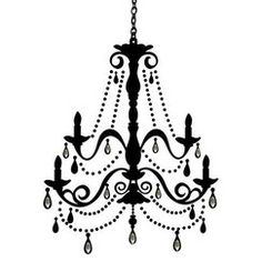 Chandelier silhouette httpsave365fochandelier silhouette b chandelier with gems wall decal aloadofball Images