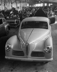 Alfa Romeo being completed in the factory in 1948