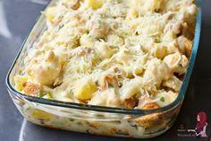 Bloemkool ovenschotel met kip - WayMadi Healthy Chicken Dinner, Potato Salad, Mashed Potatoes, Macaroni And Cheese, Recipies, Spaghetti, Veggies, Food And Drink, Homemade