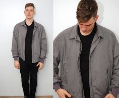 vintage MEMBERS ONLY jacket 2X light gray by GhostVintageClothing