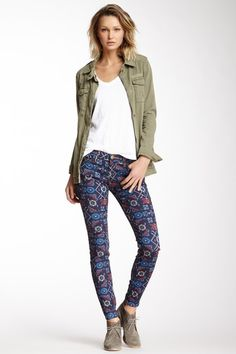Current/Elliott The Printed Ankle Skinny Jean by Assorted on @HauteLook