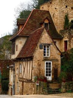 Ancient, Rocamadour, France ~Repinned Via Mel Cryar by tiquis-miquis