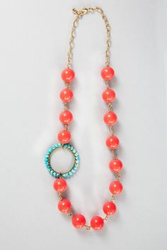 Coral and Turquoise Beach Necklace – Umba