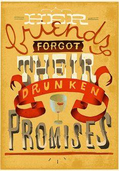Her friends forgot their drunken promises #type