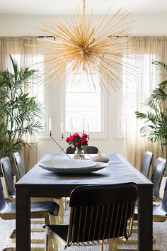 Overhead Lighting Trends 2018 - New Light Fixture Designs Get the look: Contemporary Chandelier by Z Modern Dining Room Lighting, Dining Room Light Fixtures, Modern Dining Table, Dining Room Table, Elegant Dining, Contemporary Chandelier, Contemporary Design, Square Kitchen Tables, H Design