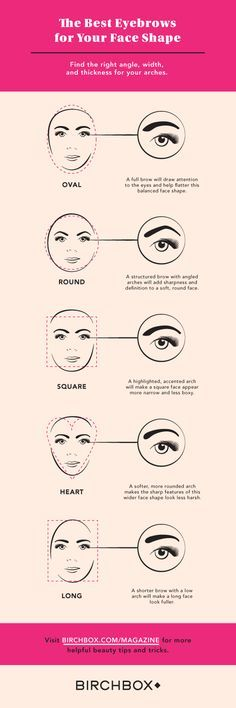 Eyebrows are not one-size-fits-all! Consult this guide to find the best eyebrow arch for your face shape, then click through for tips on how to get it.