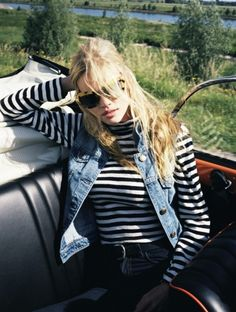 stripes and wild hair