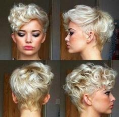 Arka On Yan Duz Bakislarla Sari Ve Kisa Saç Modelleri