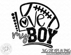 Football football mom Love my boy svg design football mom Football Shirt Designs, Football Mom Shirts, Football Cheer, Football Design, Football Boys, Sports Shirts, Football Sayings, Football Clothing, Football Season