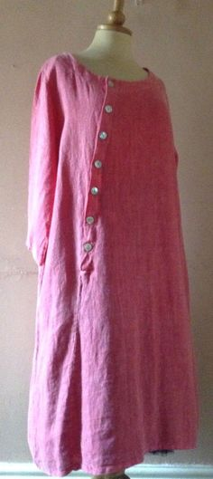 NEW LINEN TUNIC DRESS.PLUS SIZE.ARTY,LAGENLOOK,UNUSUAL,SMOCK,MADE IN ITALY | Clothes, Shoes & Accessories, Women's Clothing, Dresses | eBay!