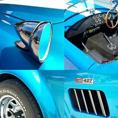 #Mirror- #MotorMonday spotted this #vintage #auto-beauty #C427 in #Ontario (the cradle of #Canada's #car manufacturing:) Comment here or reply on #Twitter where to you'd #drive the #blue #roadster for #fun & #freedom #chrome #reflections #motor #speed #power #wheels #antique #instaCar #photo #driving #manualtransmission #sportscar