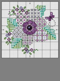 Motifs Blackwork, Blackwork Cross Stitch, Blackwork Embroidery, Cross Stitch Tree, Cross Stitch Cards, Cross Stitch Flowers, Cross Stitching, Cross Stitch Embroidery, Embroidery Patterns