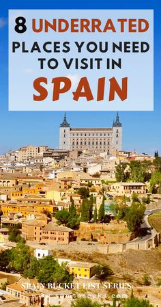 Spain Bucket List - Are you searching places to visit in Spain? Look beyond Madrid and Barcelona! There are tons of lesser-known, beautiful places to visit in Spain. Here are 8 underrated travel destinations in Spain that should be on your bucket list. Find out what makes these Spanish destinations bucket-list worthy! #spaintravel #traveldestinations #placestovisit #europetravel
