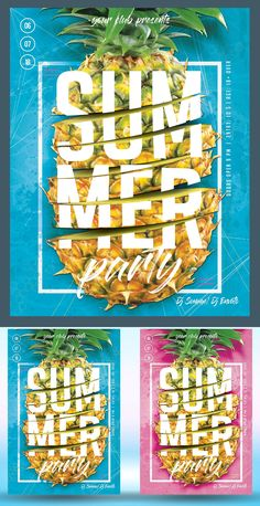 Summer Party Flyer Poster - Graphic Design Junction - Beyond Binary Graphic Design Blog, Japanese Graphic Design, Graphic Design Posters, Party Logo, Party Flyer, Flyer Design, 2020 Design, Flyer Free, Summer Poster