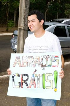 In the city of Gyn, Goiás - Brazil also has Free Hugs. Know, enjoy it and share our FanPage A hug can change someone's life!  https://www.facebook.com/AbracosGratisGoiania?fref=ts