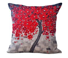 Oil Painting Tree Pillow Covers