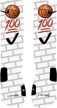 Custom designed Emoji Basketball socks with reinforced toe and heel for extra comfort and support. Sock Sizes for Nike Elites: Small size 4-6 Medium size 6-8 Large size 8-12 Washing Instructions: Regular machine wash, hang dry is recommended but not necessary. Every sock is custom made and may have slight variations. The Nike logo and …