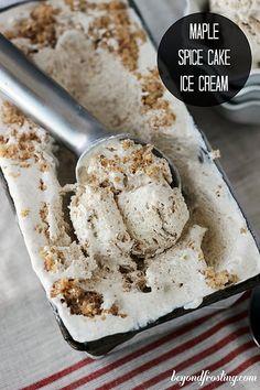 Maple Spice Cake Ice Cream @beyondfrosting