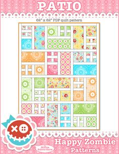 Patio - PDF quilt pattern by Happy Zombie, happyzombie.bigcartel.com