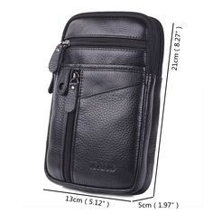 Multi-functional Genuine Leather 7 Inch Phone Bag Waist Bag Crossbody Bag For Me. - Multi-functional Genuine Leather 7 Inch Phone Bag Waist Bag Crossbody Bag For Men is worth buying - NewChic Mobile Source by switanik Cheap Crossbody Bags, St Kitts And Nevis, Bag Sale, Leather Bags, Leather Purses, Casual Shoes, Casual Outfits, Apron, Macbook Bag
