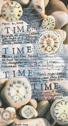 lovely postcard design with #clocks about #time