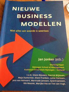 Working paper met casestudies van nieuwe business modellen door Jan Jonkers. Over vernieuwing in B2B en B2C, C2C en C2B.
