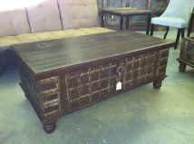 Coffee table/trunk with hinged top to allow storage.  Available at The Green Door Company Oxford, MS.