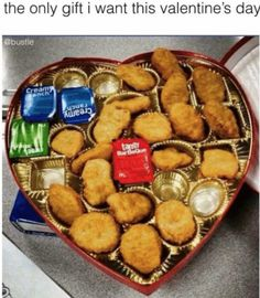 box of chocolates for Valentine's Day in real life: Chicken nuggets that you bought yourself. A box of chocolates for Valentine's Day in real life: Chicken nuggets that you bought yourself. Valentines Day Memes, Funny Valentine, Kids Valentines, Funny Relatable Memes, Funny Jokes, Hilarious, Chicken Nuggets, Chicken Nugget Meme, Intj