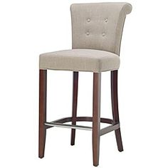 @Overstock - This Parker curved back counter bar stool features a rollover back and button tufting. This counter bar stool is upholstered in a soft sand-toned linen fabric.http://www.overstock.com/Home-Garden/Parker-Curved-Back-Mahogany-Bar-Stool/5169800/product.html?CID=214117 $220.99