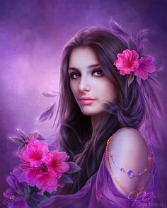 Olga Fomina beautiful female portraitBeautiful pastel colored female portraits and fantasy theme art. Russian digital artist Olga Fomina make this incredible Photo manipulations. Here you can see some of her best artwork, many others can be seen on her DeviantArt site Helga-Hertz.